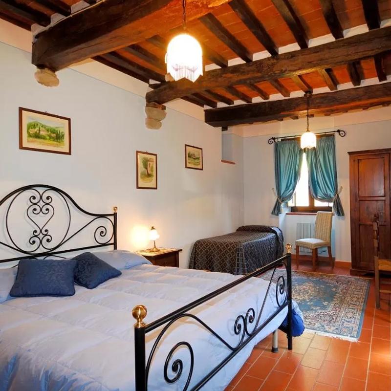 la casa colonica, camera da letto