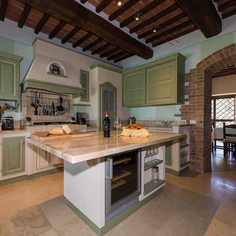 villa fontanicchio, cucina